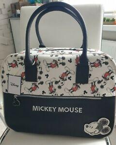 Primark Disney Mickey Mouse Reisetasche Shopper Weekender Wickeltasche weiß...