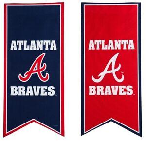Atlanta Braves Garden Flag 2 Sided Long Pennant 28'' MLB Baseball