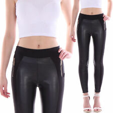 Markenlose Damen-Leggings mit Lack/Glanz M