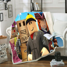 Roblox 3D Printed Throw Blanket Plush Sofa Bed Soft Warm Blanket For XMAS Gift