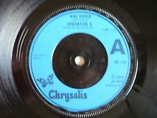"Generation X King Rocker 7"" Vinyl UK 1979 Chrysalis A1/B2 Billy Idol Punk EXC"