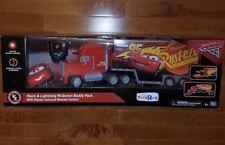 Disney Pixar Cars Mack & Lightning McQueen Buddy Pack Remote Control R/C New TRU