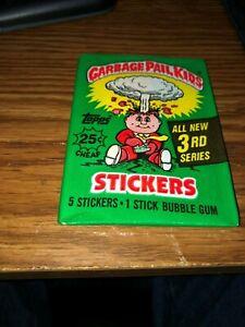 3rd Series Garbage Pail Kids (1) Pack Unopened Sealed 1986