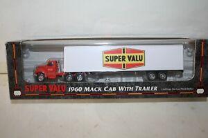 1960 MACK SEMI CAB AND SUPER VALU TRAILER DIECAST SEMI-1/64-NICE-BOX-1999 ERTL