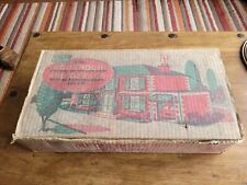 Vintage Mettoy Tin Plate 1950s - 60s Dolls House & Furniture Garage & Car Boxed