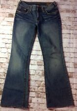 SILVER SUKI Low Rise Boot Cut Stretch Jeans Lt. Distress Womens Sz 30 W 31 L 30