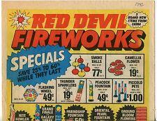"""1982 Vintage Sales Catalog Sheet: """"RED DEVIL FIREWORKS"""""""
