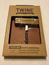 TWINE  Country Home  Brown  Steel/Wood  Corkscrew New