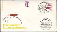 Berlin 1971, 40pf Accident Prevention Definitive FDC First Day Cover #C34393