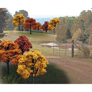 "Woodland Scenics TR1576 Value Trees, Fall Mix 2""-3"" (23) Deciduous, Large Area"