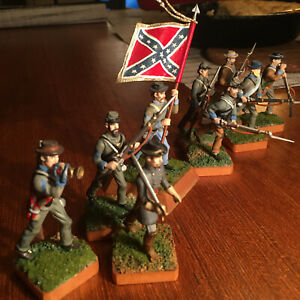 9th Virginia Infantry with standard, 54mm Metal Toy Soldiers, Hand-painted