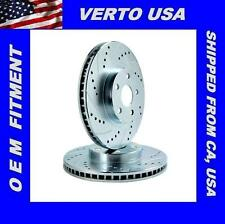 Rear Drill & Slot Disc Brake Rotors For 2005-2014  Ford Mustang , 54131DS