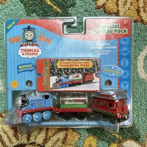 Thomas & Friends Take Along Reindeer Express Snowglobe Train. Read Description