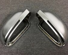 For Audi A6 S6 Rs6 2009-2011 Matt Chrome Wing Mirror Covers OEM-fit