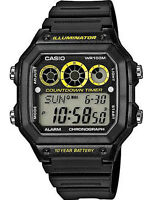 Casio AE-1300 Original New Men's Watch 5 Alarms Resin Band AE1300WH-1