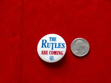 RUTLES~ARE COMING~ ~ WHITE~RARE~  ~VINTAGE PROMO PIN ~