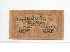 Philippines Emergency Guerrilla Currency 50 CVOS MISSPELLING Cagayan - # 2406