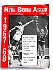 1967-68  WILT CHAMBERLAIN NBA SPORTING NEWS OFFICIAL GUIDE  VERY GOOD