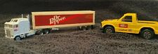 DR PEPPER - TOOTSIETOY Hard Body Pick Up Truck & ROAD CHAMP Tractor Trailer