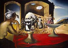Salvador Dali Slave Market reproduction 8.3X11.7 canvas print art poster