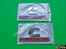 PAIR CHROME CUMMINS TURBO DIESEL DODGE RAM1500 2500 3500 EMBLEM BADGE FENDER NEW