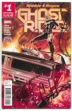 Ghost Rider 1 Marvel 2016 NM Signed x2 Gabriel Luna Felipe Smith Robbie Reyes