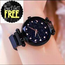 Reloj para mujer color negro,whatch for women pulsera magnetica elegante de moda