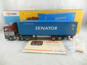 Corgi AN13805 Mercedes benz Actros Skeletal Trailer & Container John Mitchell