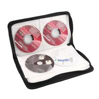 Hot 80 Disc CD Holder DVD Case Storage Wallet VCD Organizer Faux Leather Bag PQ