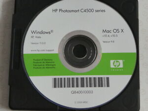 HP Photosmart C4500 Series Windows XP Vista Version 11.0.0 Mac OS Software insta