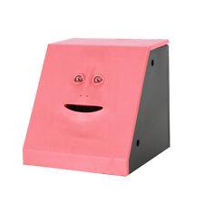 Savings Bank Face Piggy Bank Sensor Coin Money Eating Box Toy Gift Red