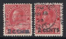 Canada 139 - 1926 two Admiral surcharge forgery, counterfeit, fake, facsimile.