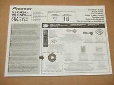 Pioneer VSX-824-K VSX-529-K VSX-424-K VSX-329-K AV Receiver Manual Instructions