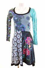 DESIGUAL Womens A-Line Dress Size 10 Small Multi Cotton  LU13