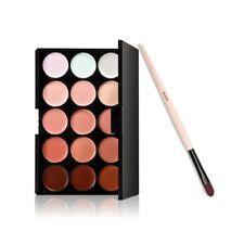 Cepillo de base + paleta de 15 colores cara contorno corrector Crema camuflaje