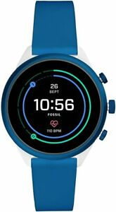 Fossil Sport Touchscreen Heart Rate GPS Blue Silicone SmartWatch 41mm FTW6051