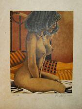 DUBIGEON Loic- Lithographie originale signée- Nu au collier