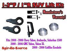 "2000 -2006 Chevrolet GMC 1500 1-3"" / 1"" Torsion Key Lift Chevy Spacer EXT + TOOL"