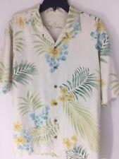 Tommy Bahama Mens Medium 100% Silk Hawaiian Camp Sport Shirt Short Sleeves EUC