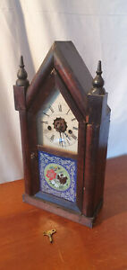 Wall Mounting or Mantle Hourly Chiming Wind Up Clock