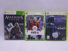 Lote De Trabajo XBOX 360 paquete de juegos FIFA 10, juego Creed Revelations & Halo -3 Odst
