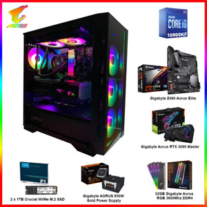 AORUS RTX 3090 Gaming PC i9 10900KF, 2TB NVMe M.2 SSD, 32GB RAM, 850W,Win 10 PRO