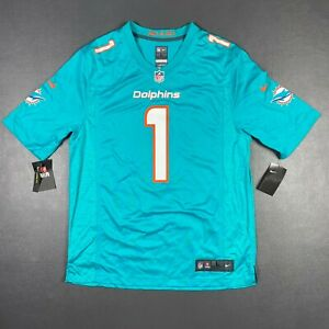 100% Authentic Tua Tagovailoa Nike On Field Game Dolphins Jersey Size L 44 Mens