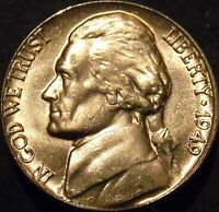 1949-P Jefferson Nickel Choice/Gem BU Uncirculated