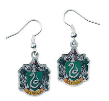 Harry Potter Slytherin Crest Silver Plated Earrings