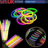 Glow Sticks Neon Colors Bracelets Necklaces for Party Favors Disco Rave 50pcs