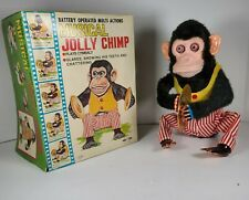 Vintage Daishin Japan Musical Jolly Chimp Toy Story Monkey Box Works