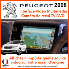 PEUGEOT 2008 (2013 +) interface vidéo multimédia TV DVD camera de recul GPS