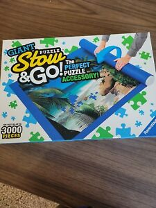 Giant Puzzle Stow And Go  59x39 Felt Mat,pre-owned