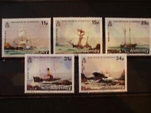 ALDERNEY  1987 Shipwrecks Issue Full Set of 5vs MNH Cat 14.05 (1B14)
